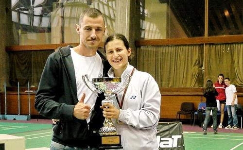 Милко Георгиев и Линда Зечири - шампион на сънгъл от Международен турнир София 2011