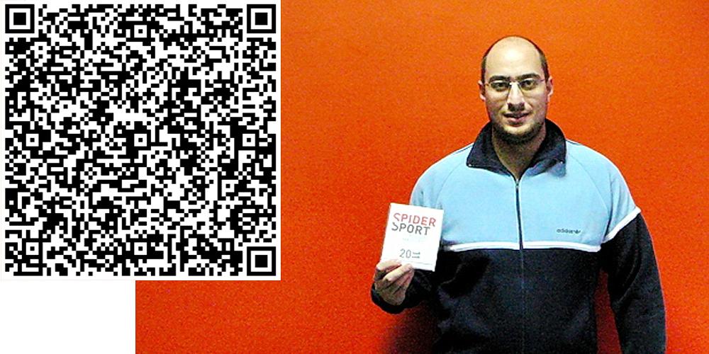 Клиентът ни Георги Цочев пръв прочете QR-кода върху календара ни и спечели наградата
