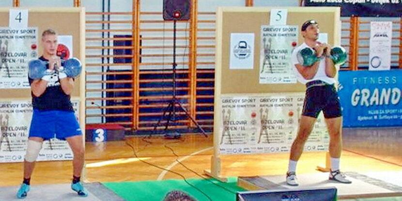 Юри Атанасов на състезание по Гиревой спорт в Хърватска