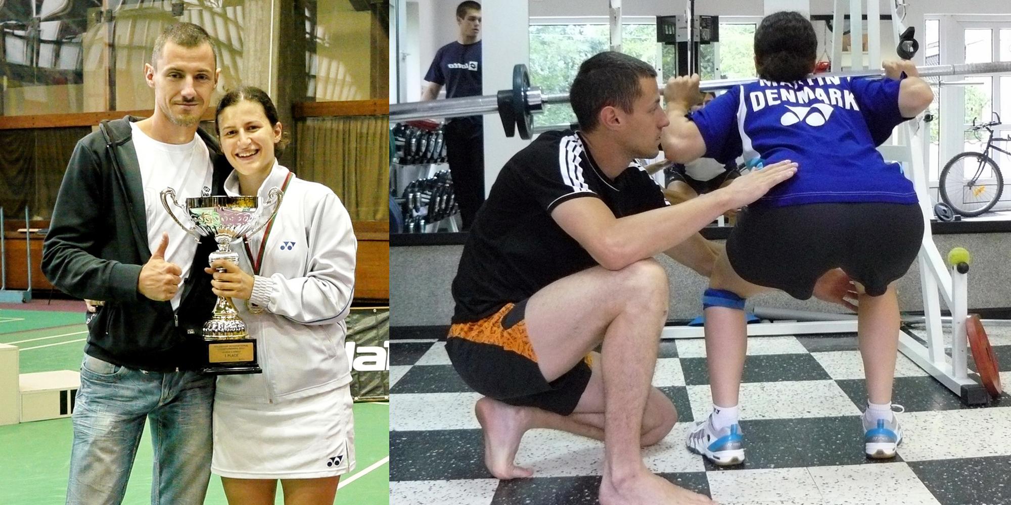 Линда Зечири и кондиционният ѝ треньор Милко Георгиев
