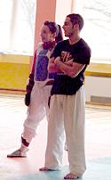 Илияна Енева и Стамен Захариев на тренировка в Ботевград