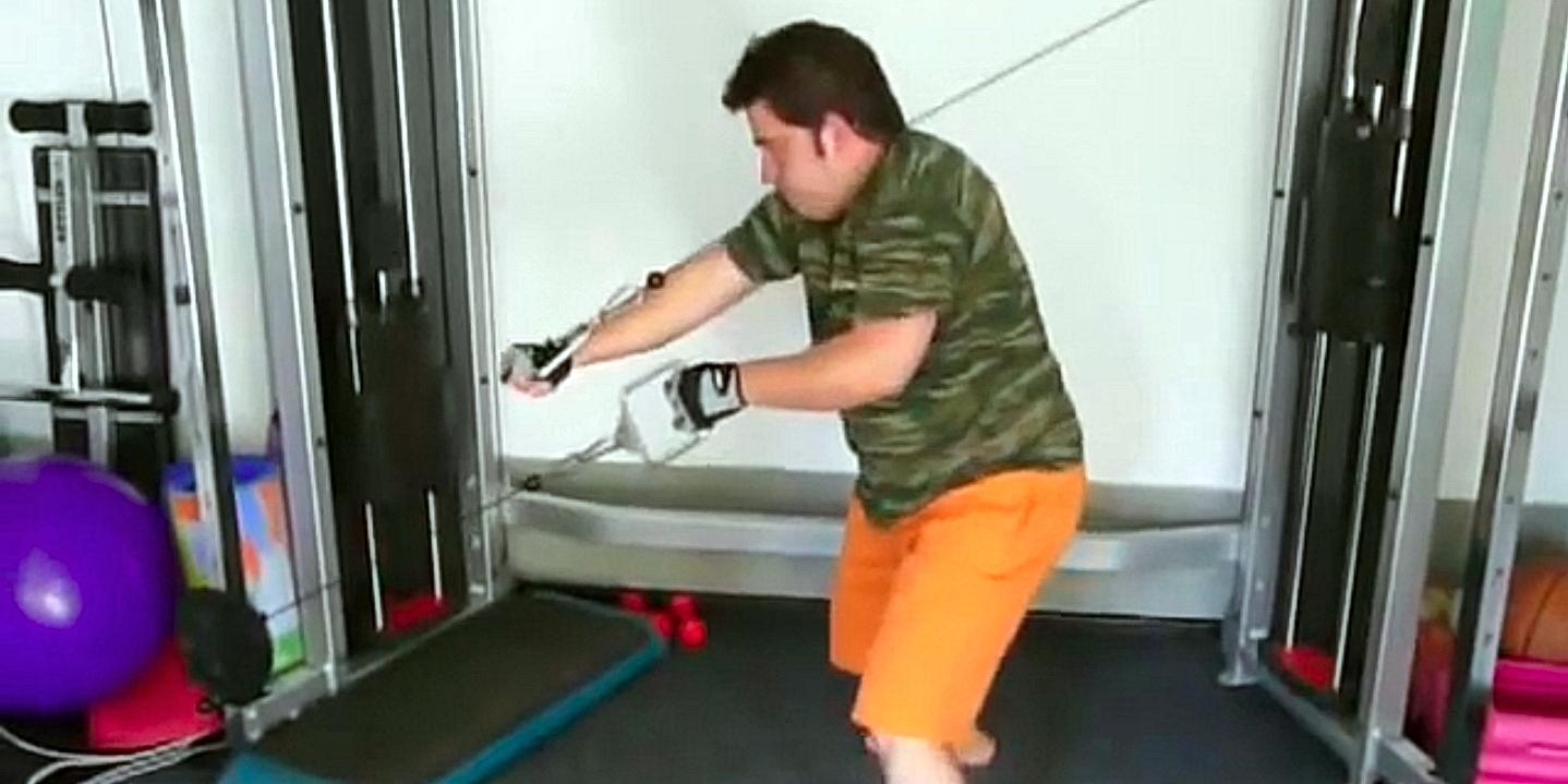 Петър Дучев прави движението Milko Push-Pull